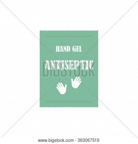 Antiseptic Disposable Sachet Hand Gel Icon Isolated On A White Background. Vector Illustration