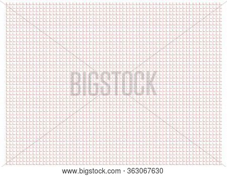 Abstract Pattern Right Angled Lines Arranged Horizontally And Perpendicularly Red Color On White Bac