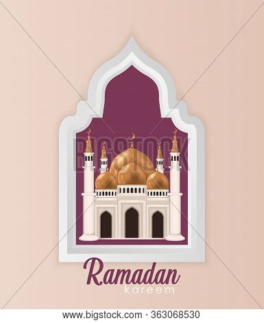 Ramadan Kareem Background. Ramadan Kareem Vector, Mosque Realistic Islamic. Ramadan Kareem Vector De