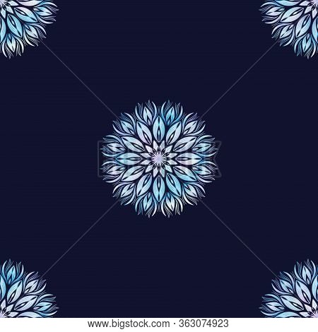 Abstract Background Artistic Fancy Flower, Seamless Repeat Pattern Of Imagination Shinning Flower, M