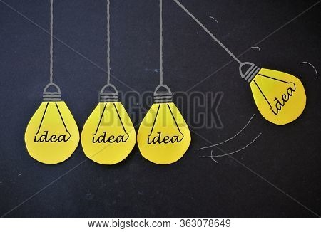 Light bulb in pendulum position