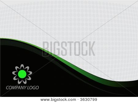 Gray Green Abstract Background