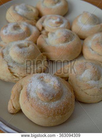 Sugar On Top Of Filipino Ensaymada Bread