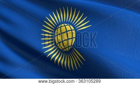 Flag Of The Commonwealth Of Nations. 3d Rendering Illustration Of Waving Sign.