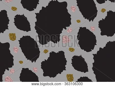 Abstract Animal Skin Leopard Seamless Pattern Design. Jaguar, Leopard, Cheetah, Panther Fur.