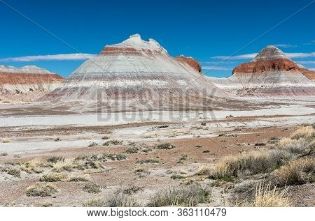 The Teepees Are Part Of The Blue Mesa Member Of The Chinle Formation. Part Of The Colorful Badland F