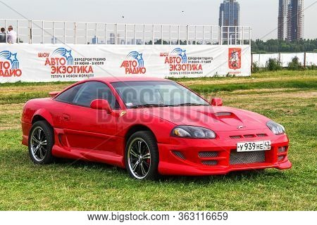 Moscow, Russia - July 6, 2012: Red Sports Coupe Dodge Stealth Presented At The Annual Motorshow Auto