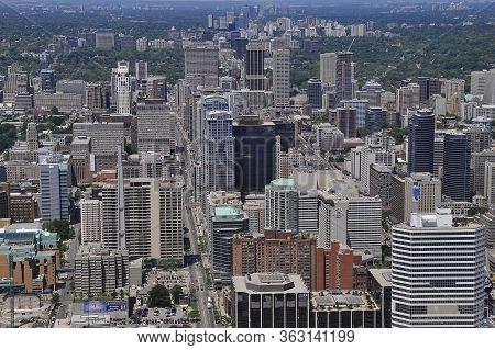 Toronto, Ontario / Canada - Jun16, 2009: Aerial View Over The City Center Of Toronto, Ontario, Canad