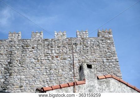 Marmaris,turkey - November 2, 2019:wall Of An Ancient Castle - A Fortress In Marmaris. Turkey