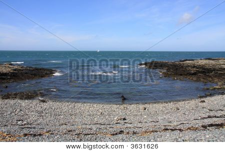 Cemlyn Bay a National Trust Wildlife Pool on the Isle of Anglesey poster