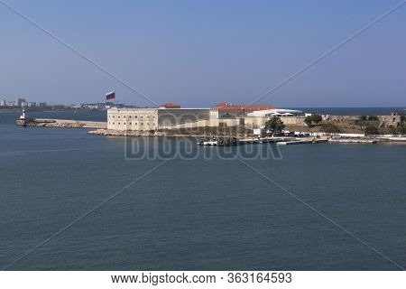 Sevastopol, Crimea, Russia - July 28, 2019: View Of The Konstantinovsky Battery In The Hero City Of