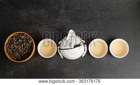 Still Life Image Of Chinese Traditional Culture Of Traditional Tea Ceremony Utensils, Chinese Teacup