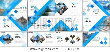 Minimal Presentations Design, Portfolio Vector Templates With Cubes, Geometric Abstract Background.