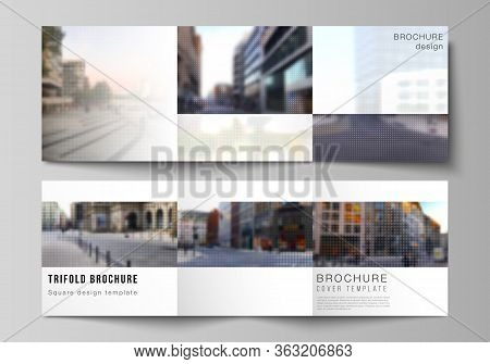 Vector Layout Of Square Cover Design Template For Trifold Brochure, Flyer, Magazine, Cover Design, B