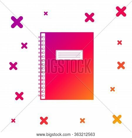 Color Notebook Icon Isolated On White Background. Spiral Notepad Icon. School Notebook. Writing Pad.