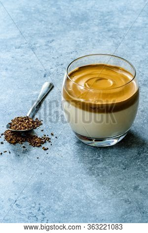 Dalgona Coffee / Whipped Creamy Fluffy And Trendy Instant Granulated Coffee Powder.  Korean Beverage