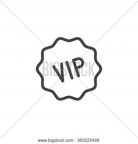 Vip Icon. Privileged Status Concept Logo For Online Services, Stores, Markets And Mobile Application