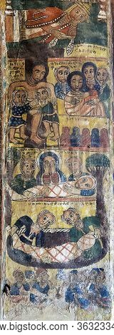 Medieval Canvas Painting, Descent From The Cross And Entombment Of Christ, Church Abreha Wa Atsbaha,