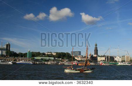 Vessel On Elbe