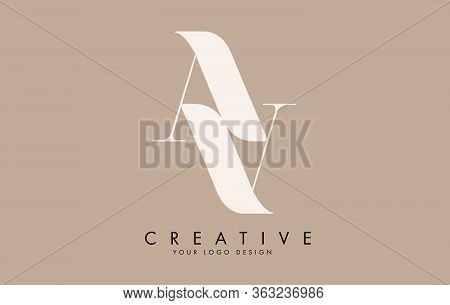 Double Aa Letter Logo Design. Reflection Effect Vector Illustration Sign.