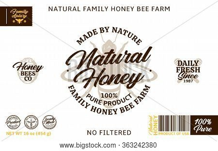 Honey Label And Packaging Design Elements