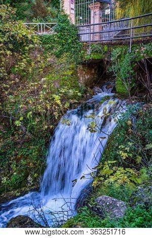 Waterfall In Cazorla Village, Sierra De Cazorla Segura And Las Villas Natural Park, Jaen Province, A