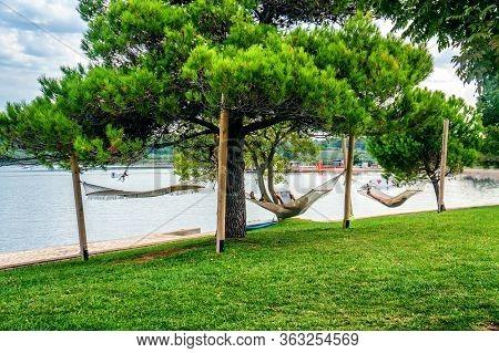 August 28, 2018, Porec, Istria, Croatia: Porec Coastline And Tourist Area On The Istria Peninsula In