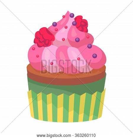 Muffin Vector Icon.cartoon Vector Icon Isolated On White Background Muffin.