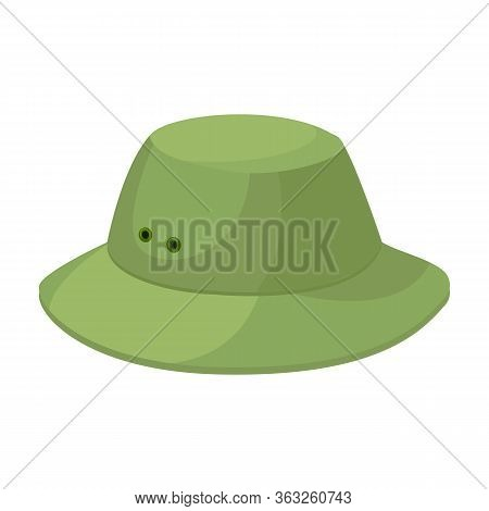 Summer Hat Vector Icon.cartoon Vector Icon Isolated On White Background Summer Hat.