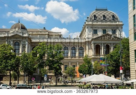 Vienna, Austria - June 4, 2019: View Of The Main Building Of The University Of Vienna; Founded In 13