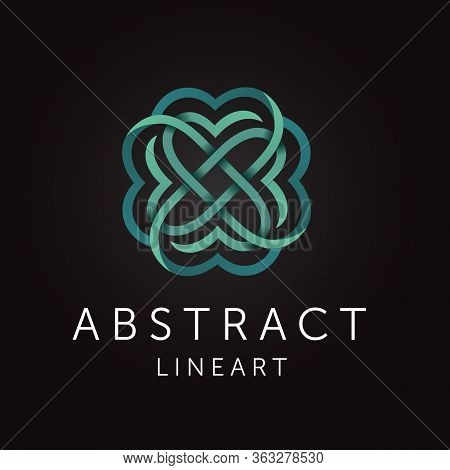 Simple And Graceful Abstract Line Art Monogram Design Template. Elegant Ornate Logo Design.