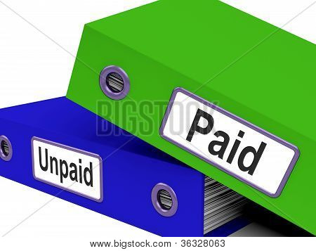 Paid Unpaid Files Shows Overdue Invoices And Bills