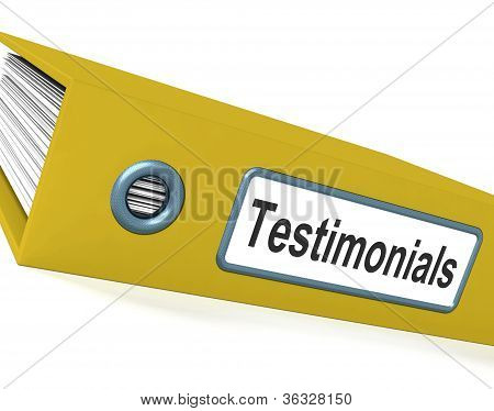 Testimonials File Showing Recommendations And Tributes