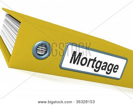 Mortgage Computer Key Showing Real Estate Borrowing