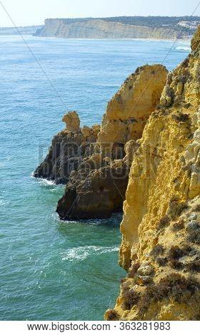Ponta Da Piedade Spectacular Rock Formations Camels Head On The Algarve Coast Of Portugak