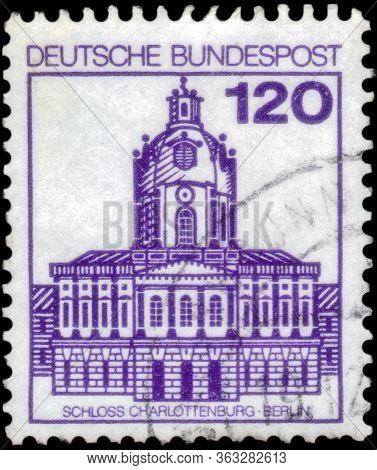 Saint Petersburg, Russia - April 21, 2020: Postage Stamp Printed In The Federal Republic Of Germany