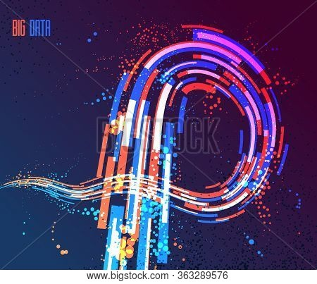 3d Abstract Dynamic Lines In Motion Vector Background, Technology Or Science Theme Abstraction Desig