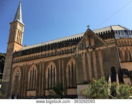 Beautiful Church On The African Island Sansibar