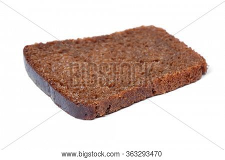 Single sliced loaf of bread isolated on white background