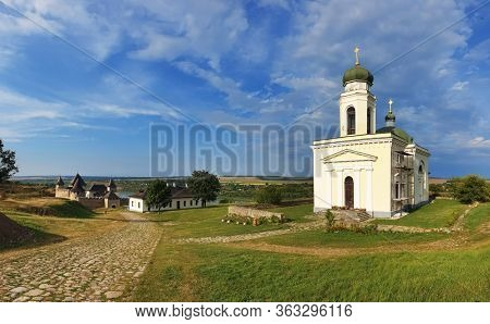Beautiful view of The Khotyn Fortress. The most remarkable medieval landmark of  central Ukraine. Travelling across Ukraine.