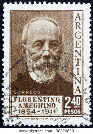 Postage stamp Argentina 1956 Florentino Ameghino, Anthropologist