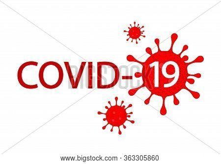 Inscription Covid-19 With Abstract Virus Graphic. World Health Organization Who Introduced New Offic