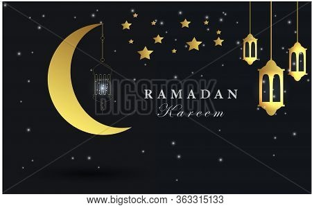 Background Simple Of Ramadan Kareem Design Vector. Illustration Ramadan Kareem Background Vector.