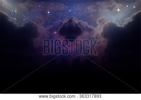 Galaxy Background With Falling Star, Vector Space Galaxy Illustration