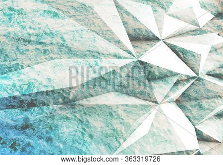 Abstract Triangular Pattern. Low-poly Cgi Background Texture, 3d Rendering Illustration