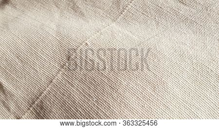 Detail Of Jute Hessian Fabric Texture Of Natural Linen Fabric Background