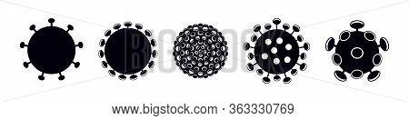 Icons Of The Sars-cov-2 Coronavirus - Virus That Causes Covid-19 Disease.