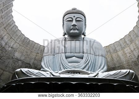 Sapporo, Hokkaido, Japan - December 2019 : The Great Buddha At Hill Of Buddha. Hill Of Buddha Is One