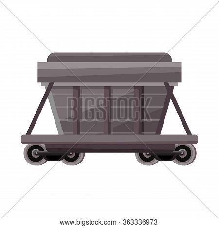 Vector Design Of Wagon And Container Icon. Web Element Of Wagon And Boxcar Vector Icon For Stock.