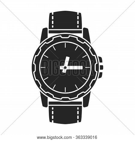 Watch Wrist Vector Icon.black Vector Icon Isolated On White Background Watch Wrist.